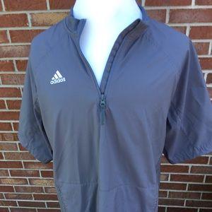 Adidas 1/4 zip short sleeve pullover windbreaker